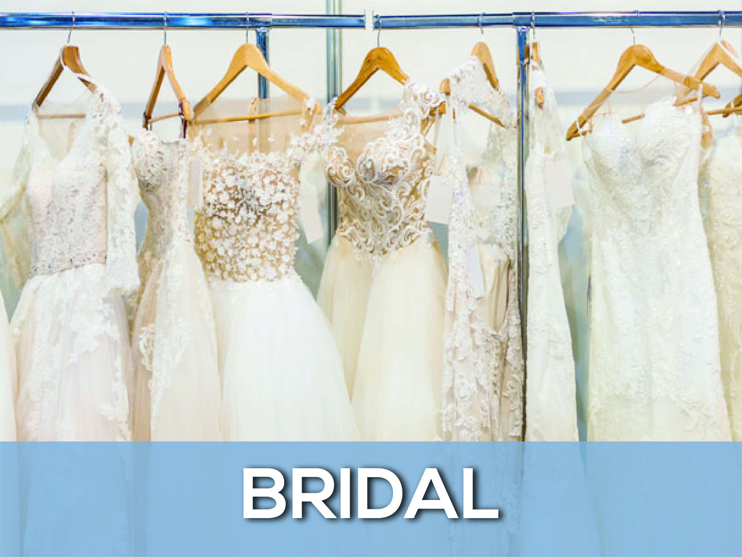 rack of bridal gowns